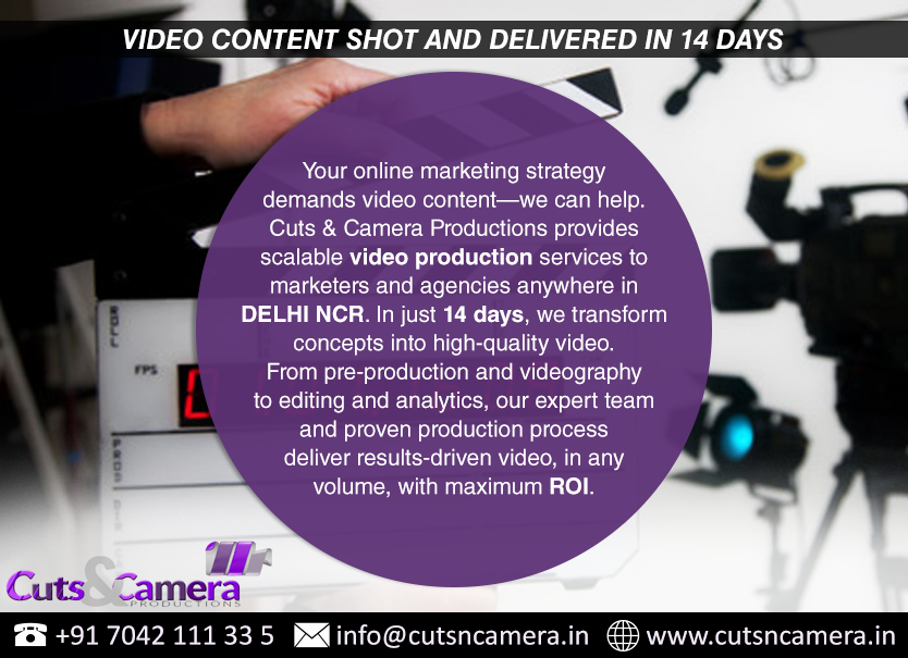 video film animation production services gurgaon city cost